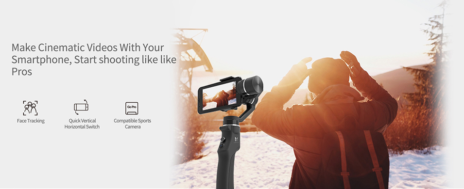 Capture 3-Axis Handheld Gimbal Stabilizer Face tracking Motorized Steadycam for iPhone X Samsung S8 Huawei P Pro 11