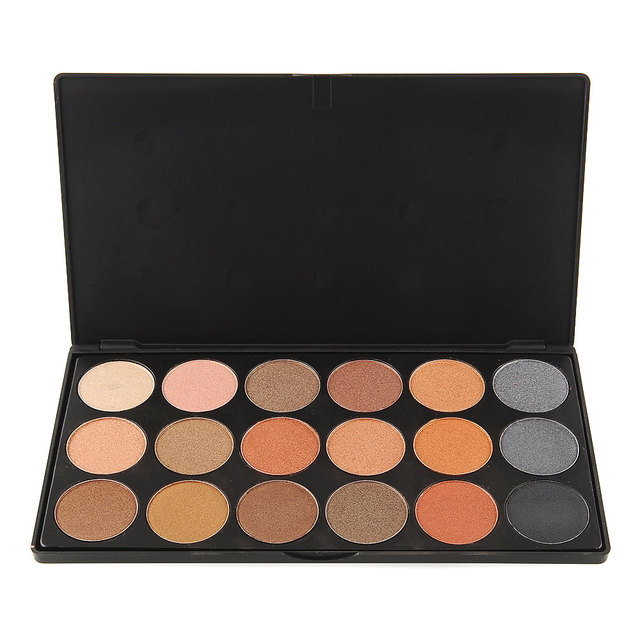 Nuevo 18 Colores Paleta de Sombra de Ojos Paleta de Polvo de Maquillaje Profesional Caja de Sombra de Ojos de Textura de Maquillaje de Sombra de Ojos Envío de La Gota