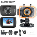 1080P HD 25FPS Actoin Camera 140D Wide Lens 2.0 Inch TFT Touch Screen Waterproof Sports Camera