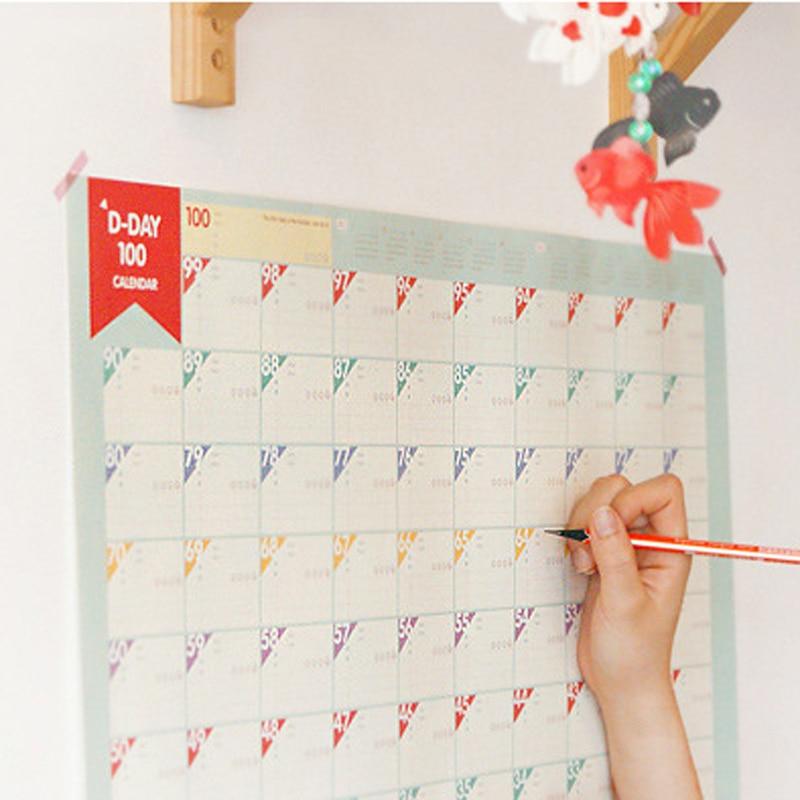 Calendario Conto Alla Rovescia.Us 0 82 8 Di Sconto Aliexpress Com Acquista D Day100 Giorni Di Calendario Conto Alla Rovescia Calendari Learning Regalo Per I Capretti Studio