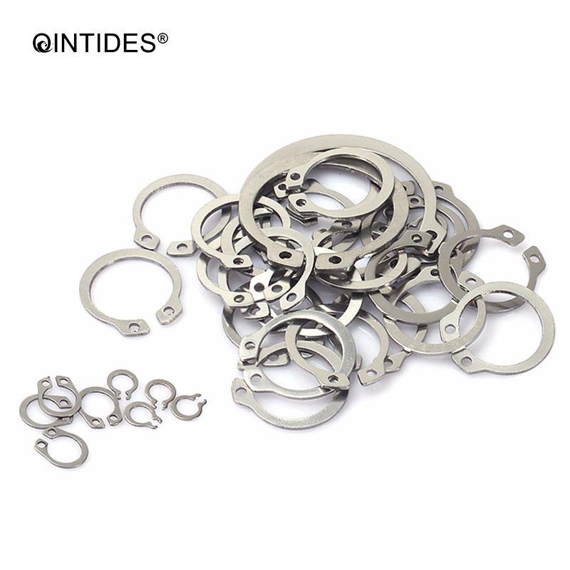 QINTIDES M19 - M80 Circlips for  shaft retaining ring circlip card outer snap ring 304 stainless steel clamp spring M20 M30 M40