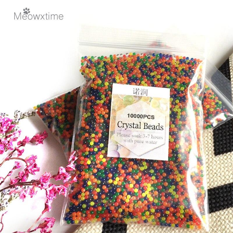 10000 шт./пакет, украшение для дома, жемчужные бусины в форме хрустальной почвы, био-гелевые шарики для цветов/Свадебная грязь, волшебные желео...