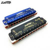 Venta caliente Easttop Harmonica T008K diatónico 10 agujeros armónica azules mondharmonica gaita de boca Ogan instrumentos musicales