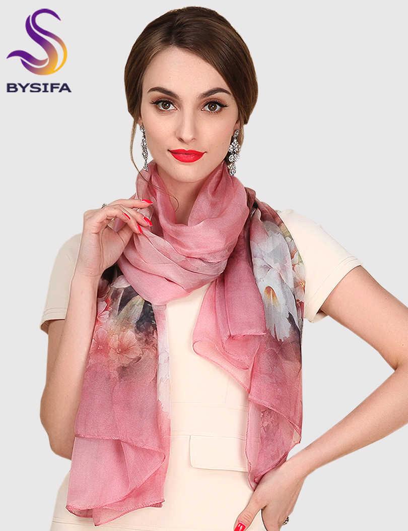 シルクスカーフ桑シルクスカーフロング設計品質の女性の春と秋すべてのマッチのファッション女性サテンピンクショール