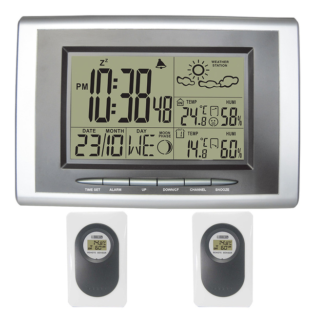 Digital Wireless Thermometer Hygrometer LCD Display Weather Station ...