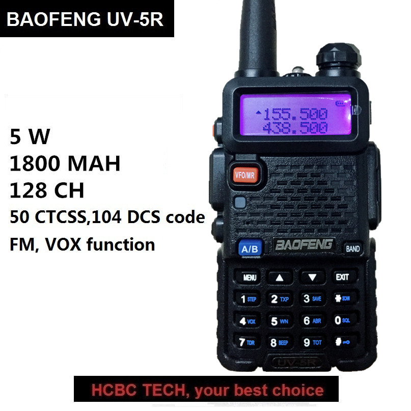 1 stück 10 km BAOFENG UV-5R Walkie Talkie UHF VHF Dual Band Tragbare CB Radio HF Transceiver UV5R baofeng 5r talki Wlki UV-82 Antenne