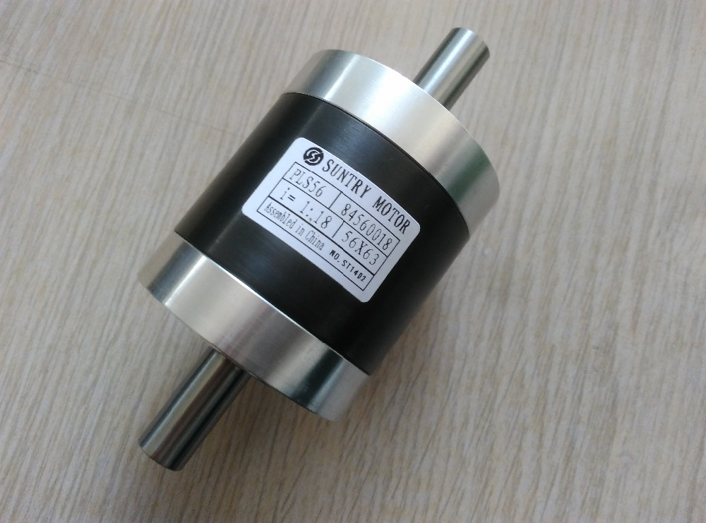 1:3.6 1:4 1:4.25 Dual Axis Planet Gear Speed-up Gearbox Double Shaft PLS56 also Used as Speed Reducer цена