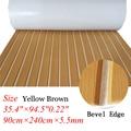 De espuma EVA de teca de barco yate Marina piso alfombra estera con bisel 90cm240cm/35,4