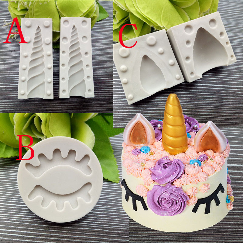 Unicorn Silicone Mold Birthday Cake Fondant Decorative