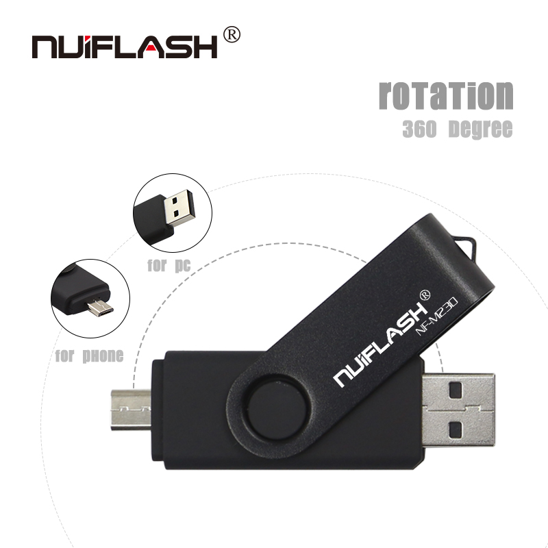 Image 3 - Nuiflash 2 in 1 OTG USB Flash Drive 128GB 64GB 32GB 16GB 8GB Pen drive Smart Phone External Storage Pen Drive Android USB Stick-in USB Flash Drives from Computer & Office