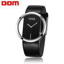 Watch Women DOM brand luxury Fashion Casual quartz Unique Stylish Hollow skeleton watches leather sport Lady wristwatches 205L