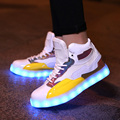 2017 Basket Light Up Led Shoes Womens Shoes Led Schoenen Unisex Casual Usb Rechargeable Light Shoes Femme Chaussures Lumineuse