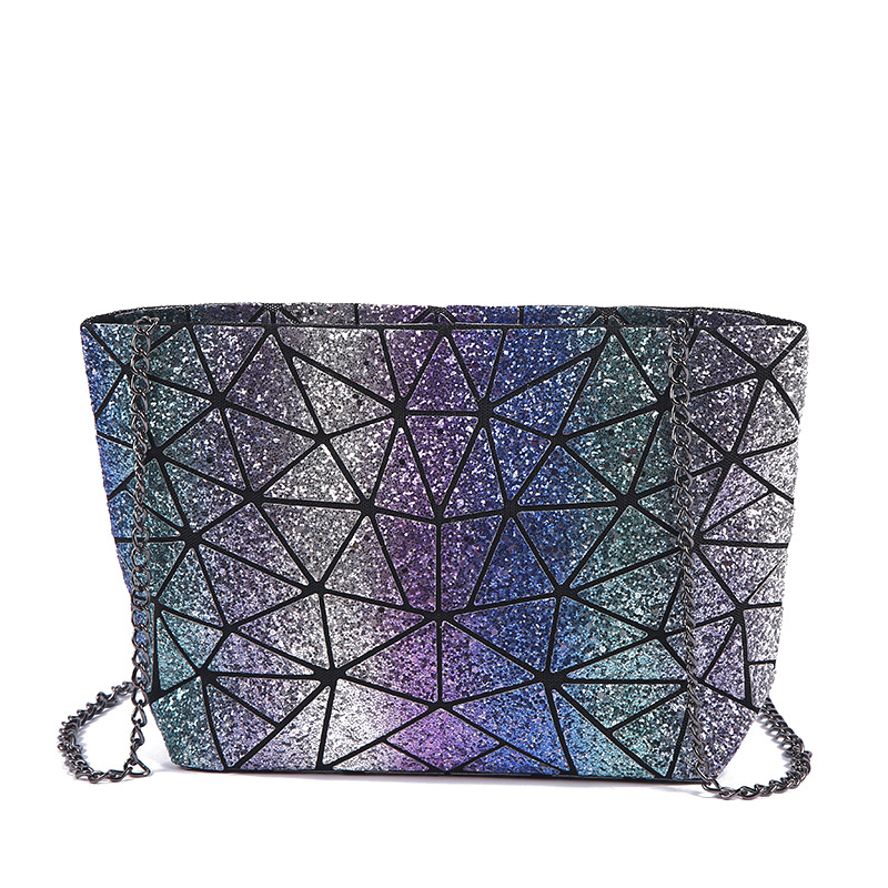 Threepeas Women Laser Shining Colorful Bags For Young Lady Chain Bags