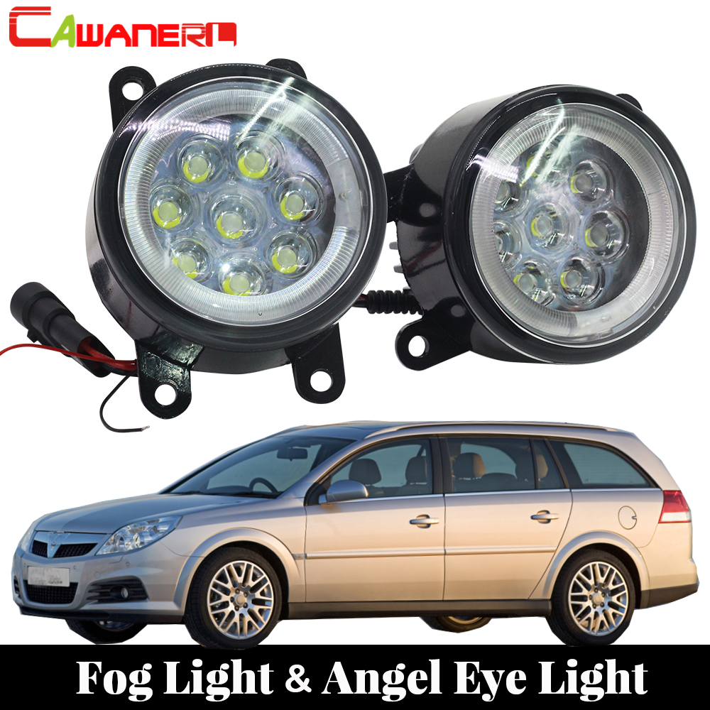 Cawanerl Car Styling LED Fog Light Angel Eye Daytime Running Light Lamp DRL For Opel Vectra C 2002 2003 2004 2005 2006 2007 2008 for opel vectra c estate 2003 04 05 06 07 car styling led fog lamps fog lights drl refit blue 12v 2 pcs