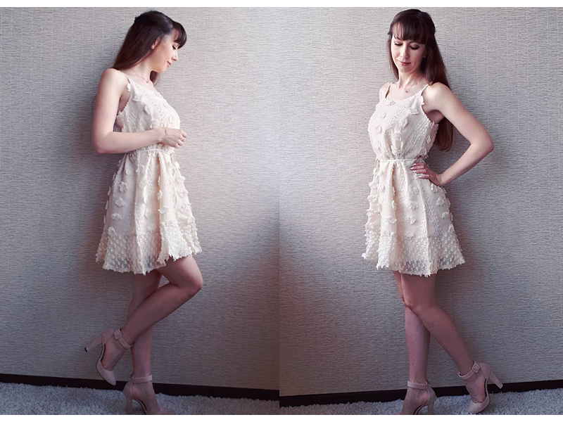 BeAvant Vintage flower embroidery short dress women Elegant spaghetti strap lace up sundress White ruffled summer ladies dresses 7