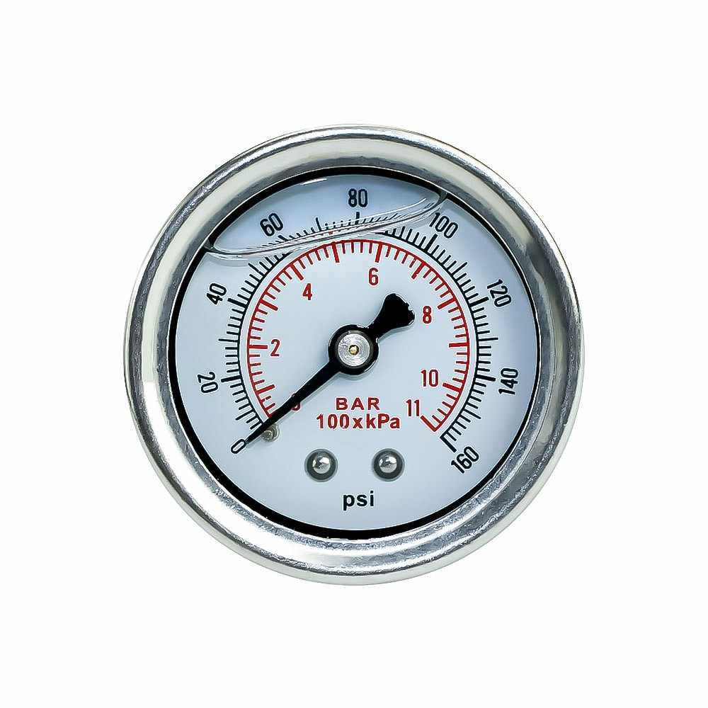 CNSPEED 0-160 PSI wskaźnik ciśnienia paliwa manometr do pomiaru ciśnienia paliwa wskaźnik paliwa pasuje do 1/8 NPT zbiornik do pobierania oleju do Honda YC100917