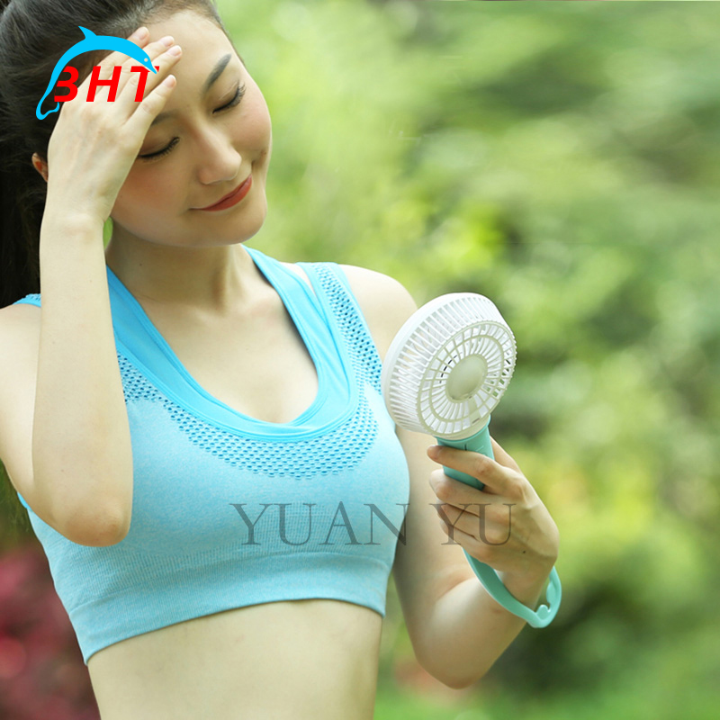 Creative USB Mini Fan Cooling Flexible Portable Hand Fan Battery Powered Air Conditioner Cooler LED Light For Home Travel