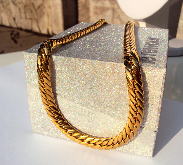 "GOLD AUTHENTIC  SOLID GOLD GF MEN'S CUBAN LINK CHAIN NECKLACE SZ 24"" 9MM Unconditional Lifetime Replacement Guarantee"