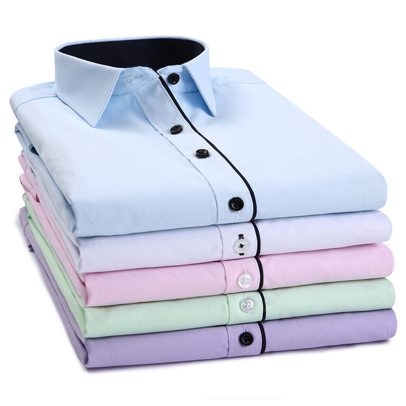 Twcx Mens Office Slim Fit Business Printing Button Front Shirts