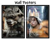 Where the Wild Things Are Movie Home Decorative Painting White Kraft Paper Poster 42X30cm все цены