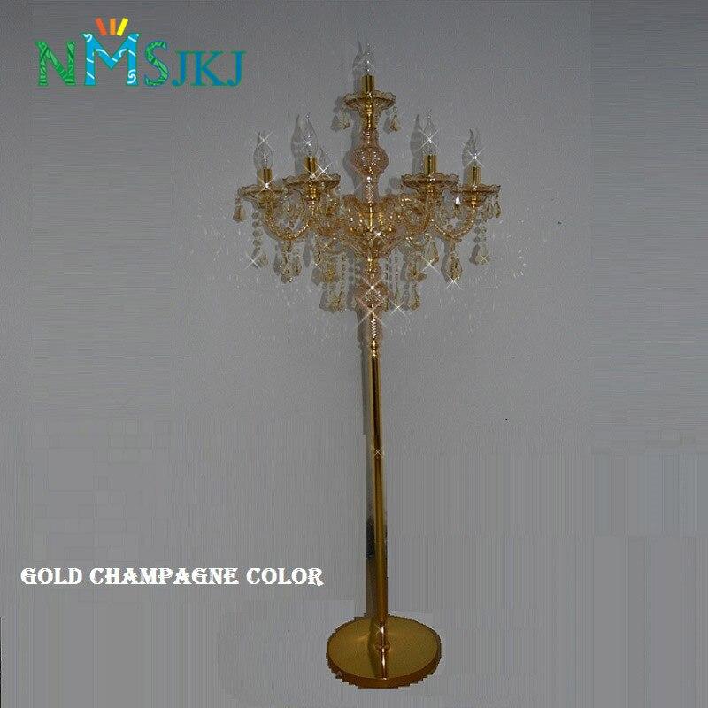 Современная мода торшер с кристаллами Освещение в гостиную Спальня лампы Хрустальные Французский Современный световые стойки Кристалл