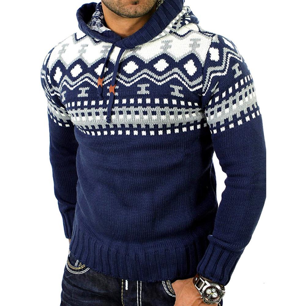 Мужской трикотажный свитер NIBESSER, осенне-зимний свитер с капюшоном и длинным рукавом
