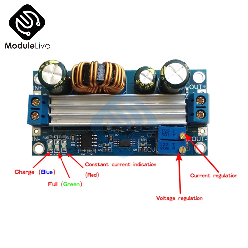 DC-DC Auto Buck Boost Step Up/Down Module Power Supply Module Output Adjustable Integrated Circuits 3A 35W New