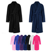 MENS WOMENS 100 COTTON TERRY TOWELLING SHAWL BATH ROBE DRESSING GOWN 003
