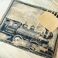 Европейские классические одеяла с изображением локомотива  ретро полотенце для дивана  хлопковый гобелен  ковер  гобелен для домашнего дек...