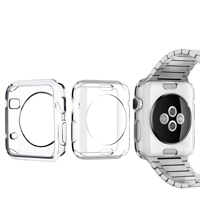 100pcs Ultra thin Clear Soft TPU Case For watch Shell Cover For Apple Watch Series 4