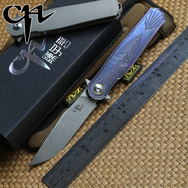 CH 3505 Flipper ball bearing folding knife S35vn blade TC4 Titanium handle outdoor tactical camping hunting knives EDC tools tactical knife ch 3504 folding knife s35vn blade top ball bearing washer tc4 titanium handle outdoors hunting survival knives