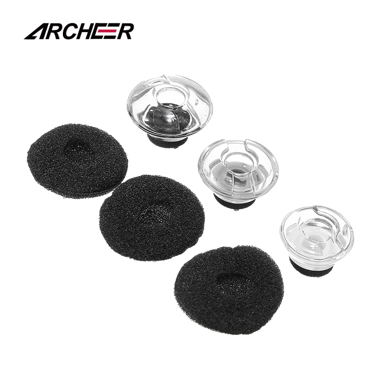 ARCHEER 6 pcs Earphone Soft Earbuds Foam Replacement Earbuds tips Covers For Plantronics For Voyager For LEGEND Headset Earphone