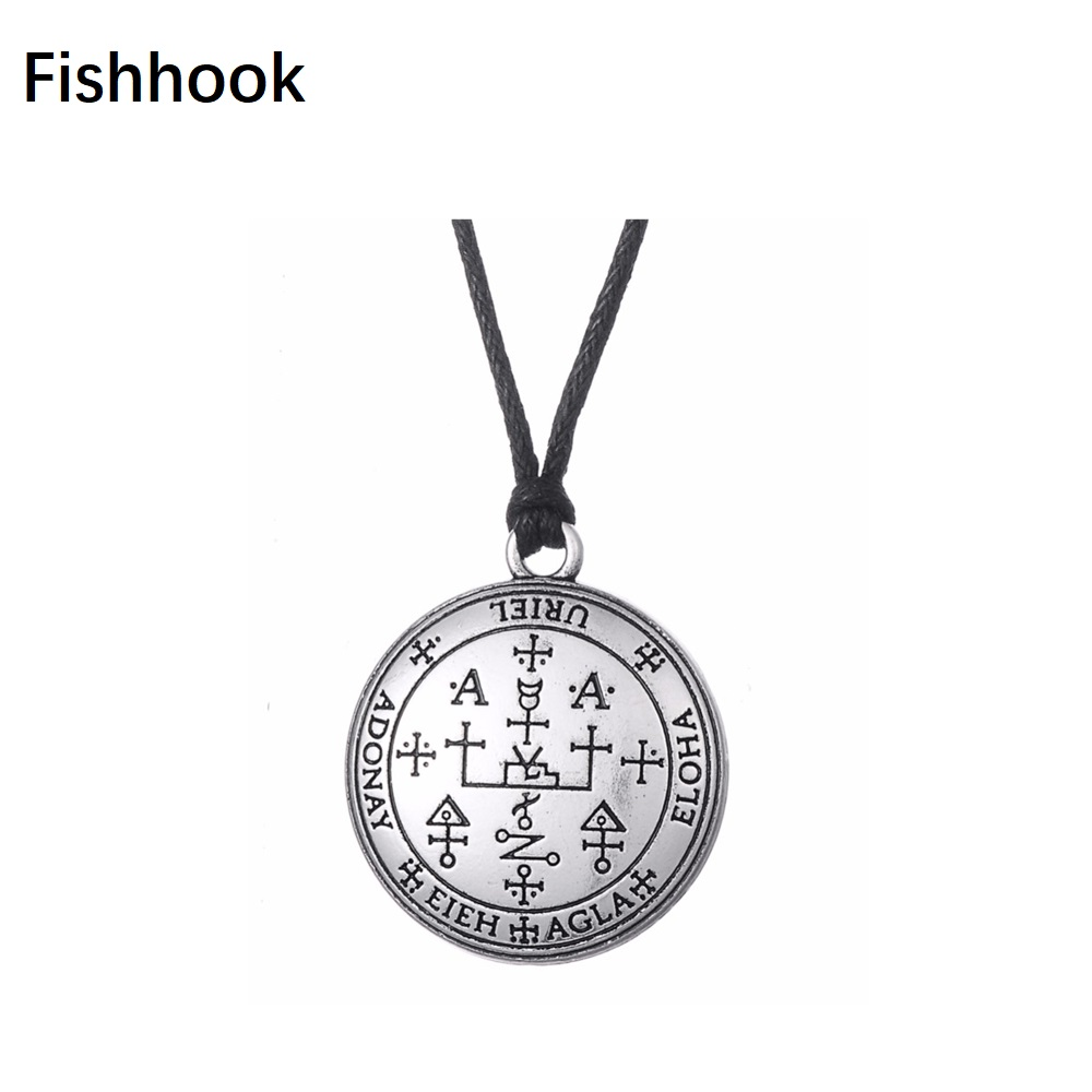 Us 2 32 22 Off Fishhook Wicca Jewelry Antique Gothic Sigil Of Archangel Uriel Chain Talisman Amulet Angel Rope Portugal Vintage In