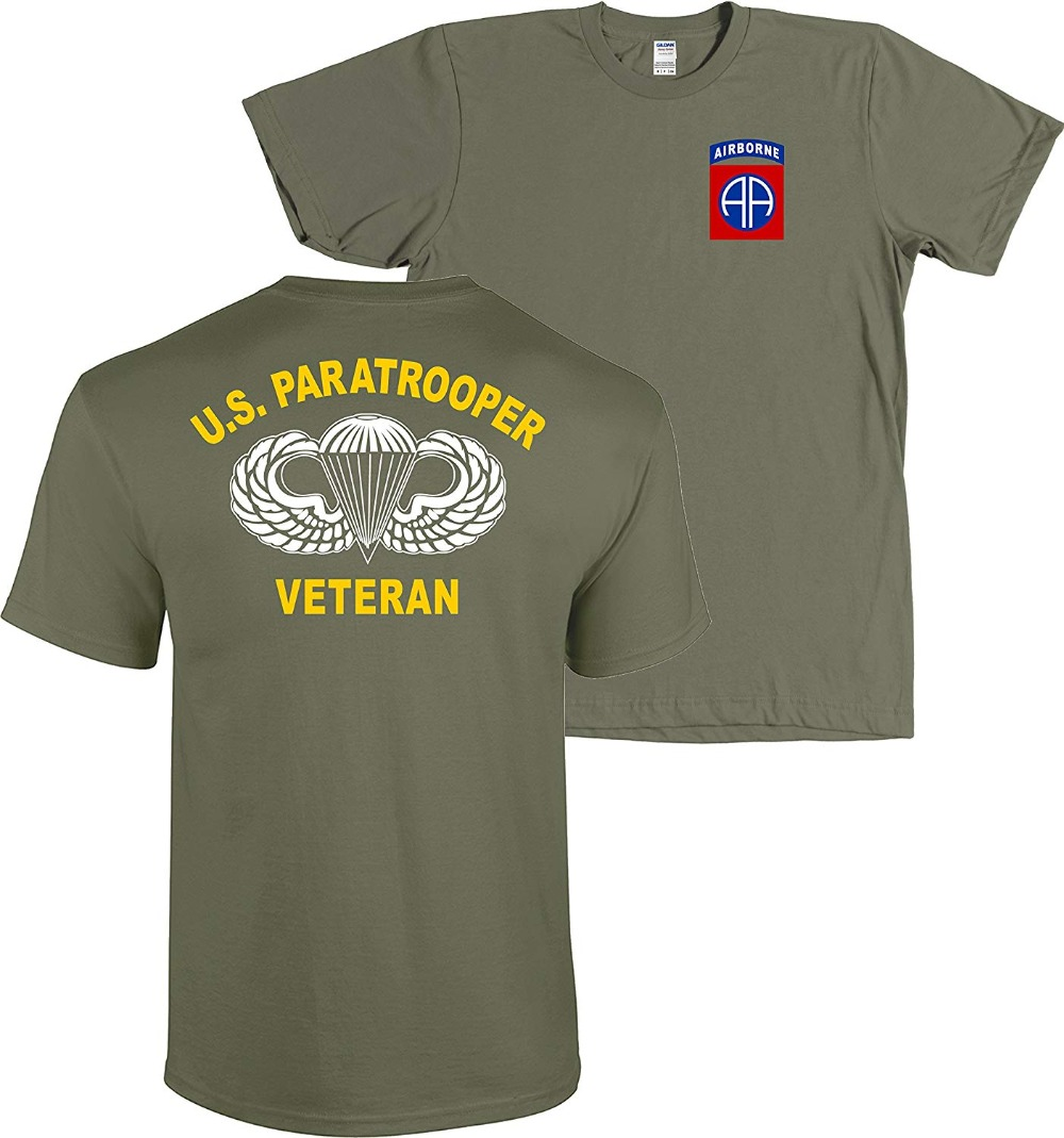 Dead Or Alive Clothing ARMY 82ND AIRBORNE Cotton Crew Short Sleeve Shirt