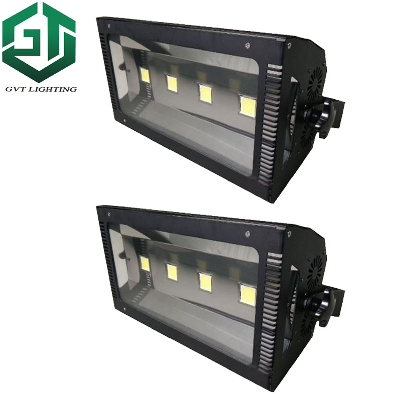 2pcs/lot Stage Led Strobe Light 400w Flashing Strobe Light With Rgb Color Light Replace Atomic 3000 4 Smd Leds X100 Watt