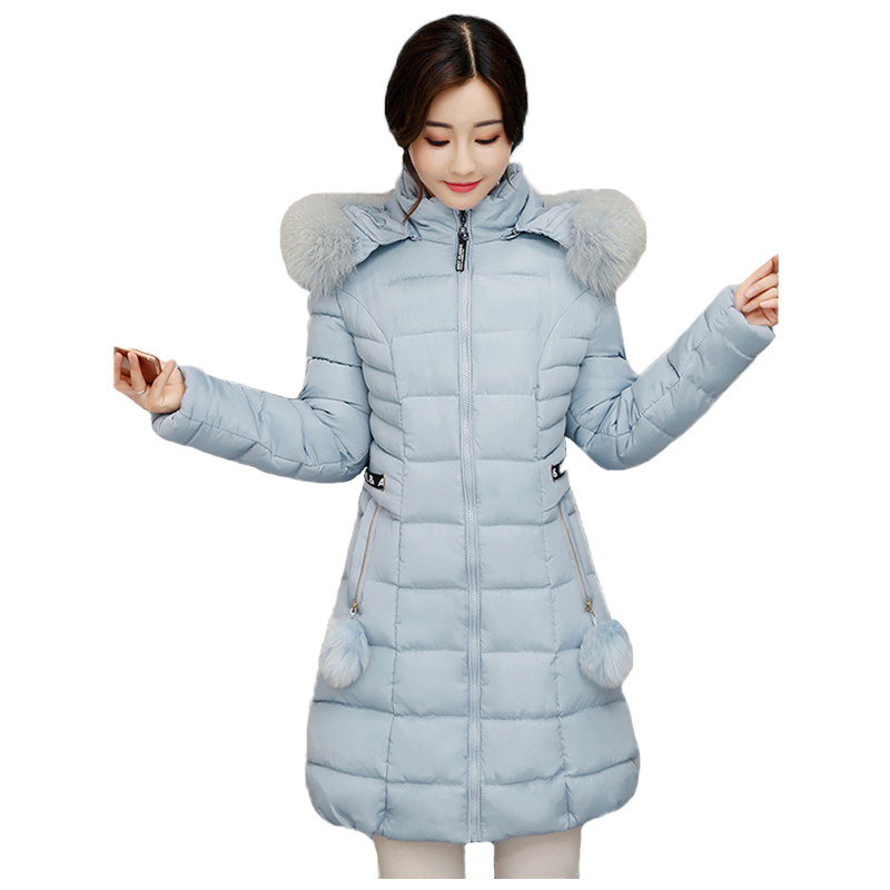Prefect,Long Warm Thicken Women Winter Jacket Solid 3XL Casacos de Inverno Feminino F-ur Collar,Army Green,XL