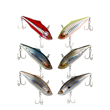 Free shipping 1pcs 11g 21.5g Fishing laser Hard Bait VIB with Lead Inside Ice Sea Fishing Tackle Diving Swivel Jig Wobbler Lure