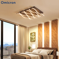 Omicron Creative LED Ceiling Lights Brown Living Room Bedroom Hotel Rooms Ceiling Luminaire Home Minimalism Lighting Lamps