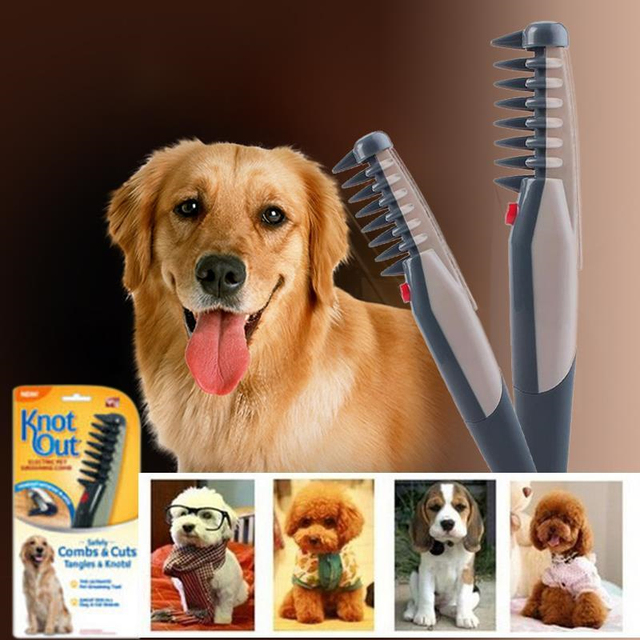 Electric Pet Dog Grooming Comb Cat Hair Trimmer Knot Out Remove Mats Tangles Tool Supplies 4