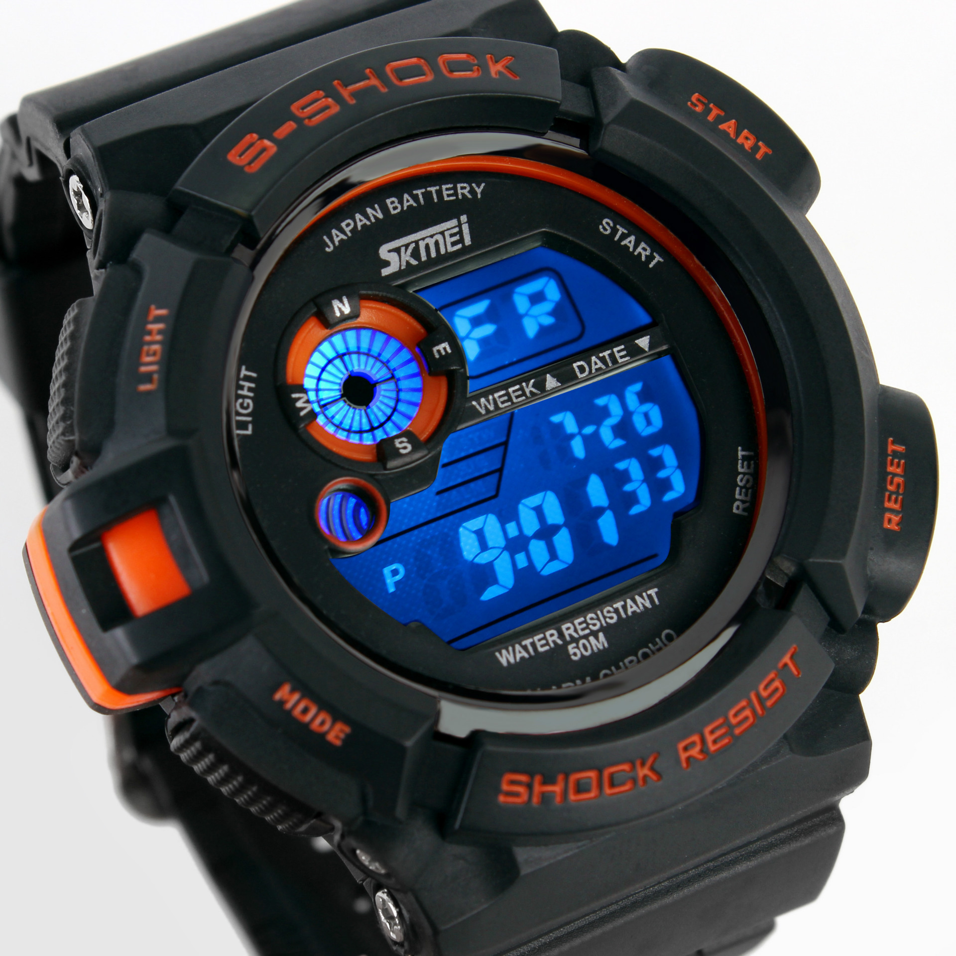Hot Outdoor Sports Men Watch Alarm Waterproof Shockproof Multifunctional Climbing Electronic Watch boys Diving Wristwatches