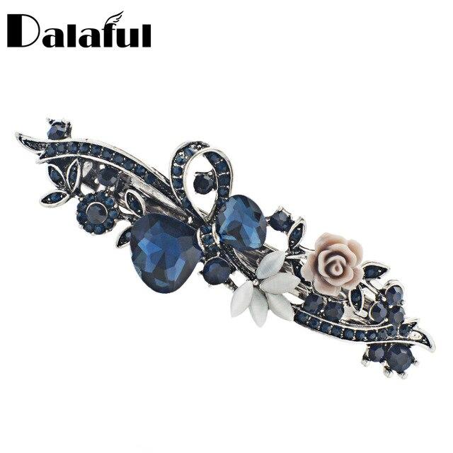 Dalaful Opals Resin Flower Hair Clip Barrette Bowknot Hairpin Headwear Accessori