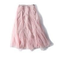 New Beautiful goddess charming sweet pretty smart dust full white gauze of tall waist joker skirts a5336