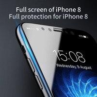 BASEUS Marka ZWIERZĘ Miękkie Krawędzi 3D ARC 0.23mm Anti-Niebieskie Pełne Pokryte Hartowanego szkło Screen Protector Dla iPhone X/7/7 Plus Film