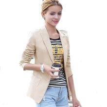 2016 Blazer Женщины Пиджаки И Куртки Mujer Bleiser Тонкий Блейзер Feminino С Помощью Одной Кнопки Женская Куртка И Пальто Jaqueta Feminina