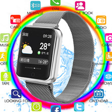 2019 P68 Smart Watch Men Women IP68 Blood Pressure Oxygen Heart Rate Monitor Watch Steps Calories Mileage Tracker Smartwatch(China)