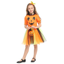 Kids Child Girls Halloween Dress Pretty Pumpkin Costume Carnival Party Mardi Gras Fancy