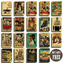Cartel Vintage película clásica Pulp Fiction/Inglourious Basterds/Reservoir Dogs papel Kraft pintura pared arte decoración de la habitación del hogar