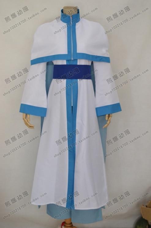 Anime Princess Yona of the Dawn Akatsuki no Yona Figure Kija White Dragon Cosplay Costume Customize Any Size Free Shipping