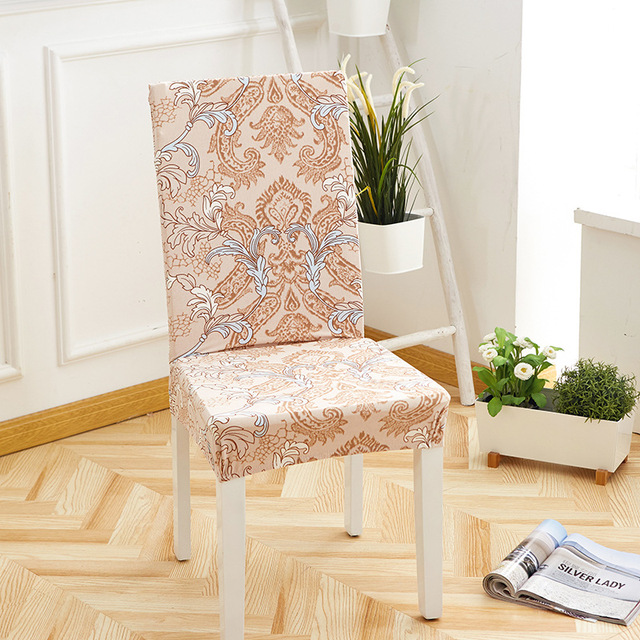 US $2.5 |Spandex Elastic Dining Chair Covers Modern Removable Anti dirty  Printing Chair Cover Kitchen Seat Case Stretch Chair Covering-in Chair  Cover ...