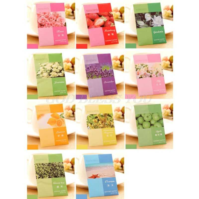 1 Bag Mini Natural Perfume Air Freshener Vanilla Sachets Paper Fragrance Bag Scented